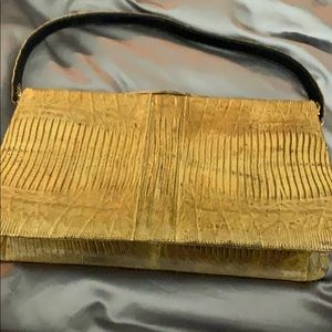 Sterling lizard vintage purse